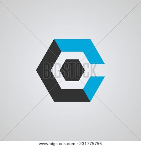 C Letter Logo, Hexagon Shape Letter C , Business Logo, Initial Business Name, Vector Icons.