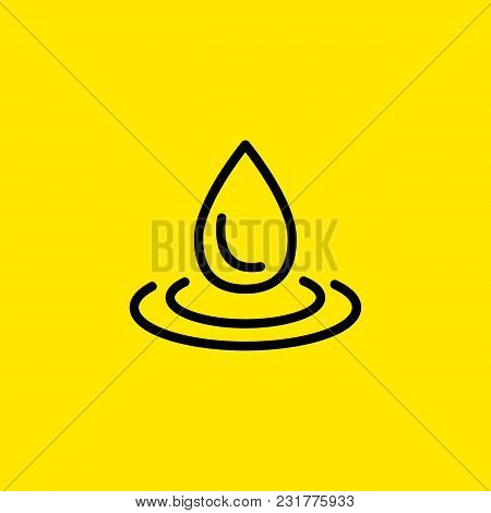Line Icon Of Drop. Puddle, Humidity, Precipitation. Water Concept. Can Be Used For Topics Like Natur