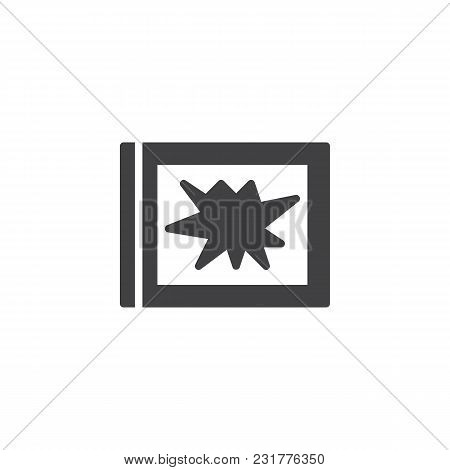 Broken Window Vector Icon. Filled Flat Sign For Mobile Concept And Web Design. Robbery Simple Solid