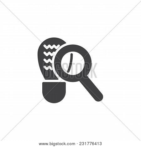 Looking For Clues Vector Icon. Filled Flat Sign For Mobile Concept And Web Design. Magnifying Glass