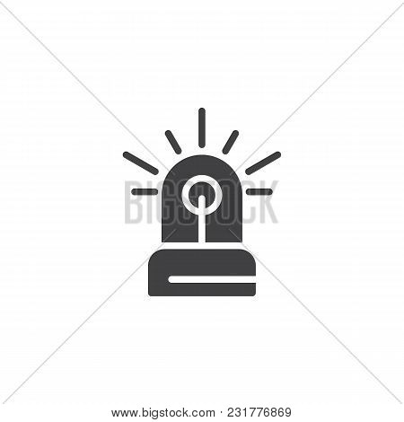 Flasher Vector Icon. Filled Flat Sign For Mobile Concept And Web Design. Siren Light Simple Solid Ic