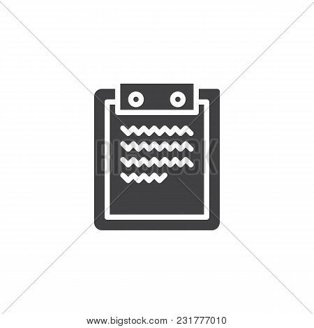 Paper Clipboard Vector Icon. Filled Flat Sign For Mobile Concept And Web Design. Clipboard With Repo