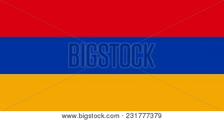 Flag Of Armenia In Official Colors And Proportions, Vector Image