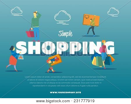 Simple Shopping Banner With People