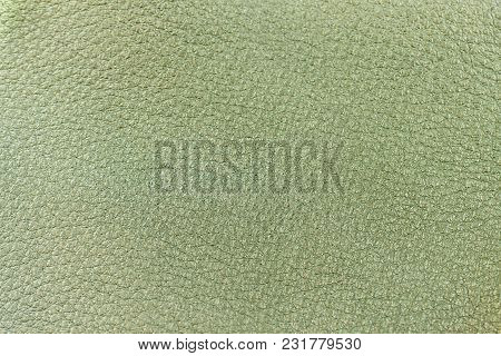 Genuine Leather Texture, Light Green Color. Spring Shopping, Manufacturing Concept. Modern Backgroun