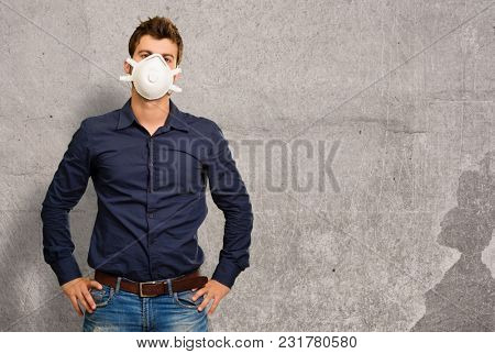 Portrait Of A Man Wearing Mask, Indoors