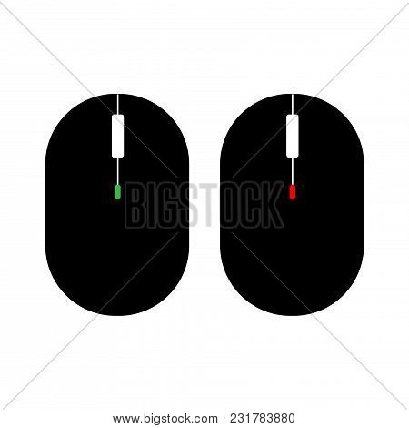 Computer Two Mouse Icon. Vector Illustration On White Backgraund