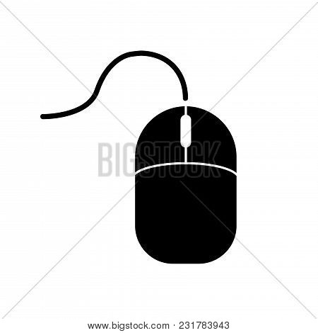 Computer Mouse Icon. Vector Illustration On White Backgraund