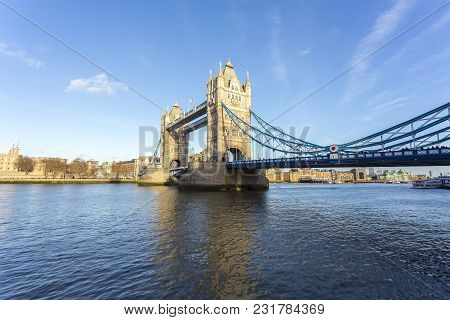 Tower Bridge Is A Combined Bascule And Suspension Bridge In London Built Between 1886 And 1894. The