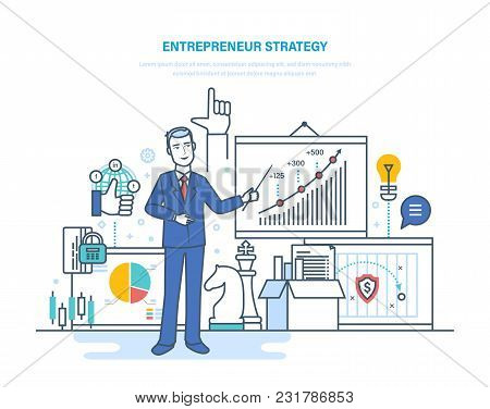 Entrepreneur Strategy. Development Of Business Processes And Technologies, Start-up Projects, Invest