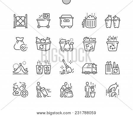 Garbage Well-crafted Pixel Perfect Vector Thin Line Icons 30 2x Grid For Web Graphics And Apps. Simp