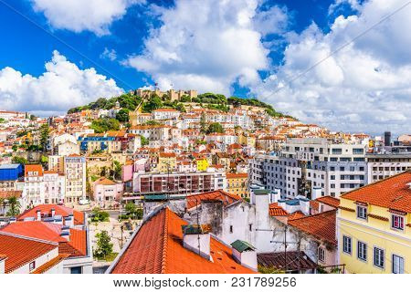 Lisbon, Portugal City Skyline