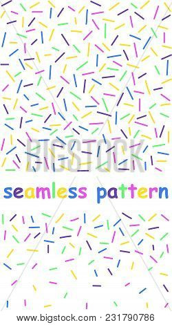 Geometric Pattern With Lines. In Retro Memphis Style, Fashion 80-90s. - Seamless. Funny Geometrical