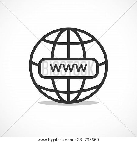 Www Internet Favicon Icon Illustration For Design