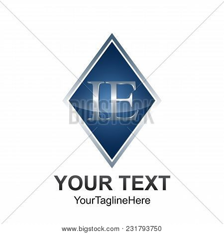 Initial Letter Ie Logo Template Colored Grey Blue Diamond Design For Business And Company Identity