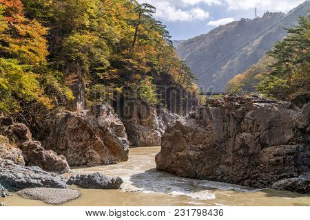 Ryuyo Gorge canyon National Park and recreation area at Nikko Tochigi Japan