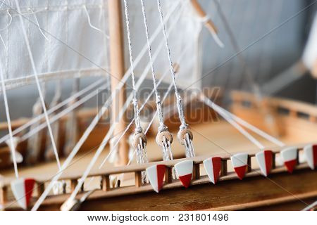 Details Of Sailing Equipment On A Boat