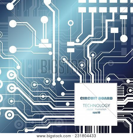 Vector Circuit Board Illustration. Abstract Technology. Eps 10.