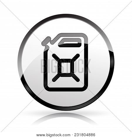 Illustration Of Jerrycan Icon On White Background