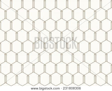 Vector Seamless Geometric Pattern. Classic Chinese Ancient Ornament Adapted To Modern Trends. Fully