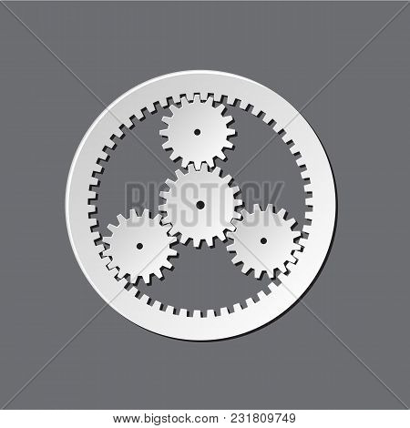 Mechanical Watches With Gears Icon Mechanism Isolated