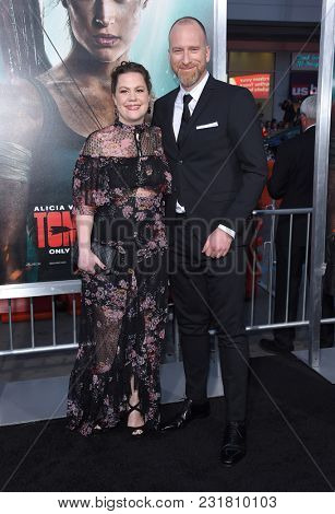 LOS ANGELES - MAR 12:  Roar Uthaug and Ingrid Uthaug arrives for the 'Tomb Raider' US Premiere on March 12, 2018 in Hollywood, CA