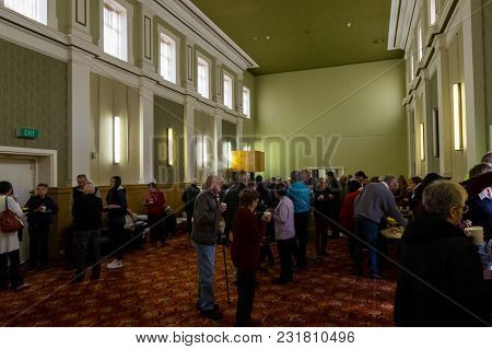 Ararat, Australia - October 21, 2017: Visitors Attending The Official Commemoration Of The 150th Ann