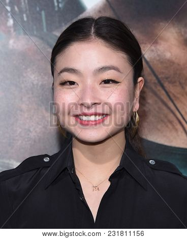 LOS ANGELES - MAR 12:  Maia Shibutani arrives for the 'Tomb Raider' US Premiere on March 12, 2018 in Hollywood, CA