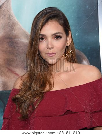 LOS ANGELES - MAR 12:  Maria Laura Quintero arrives for the 'Tomb Raider' US Premiere on March 12, 2018 in Hollywood, CA