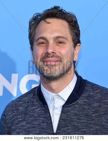 LOS ANGELES - MAR 06:  Thomas Sadoski arrives for the 'Gringo' World Premiere on March 6, 2018 in Los Angeles, CA