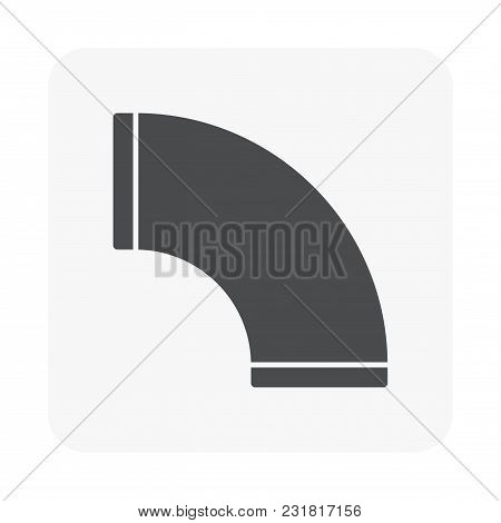 Air Duct Pipe Icon For Hvac System Isolated On White Background.