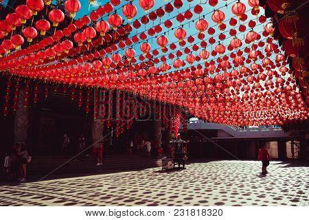 Territory Thean Hou Temple. Kuala Lumpur Attraction. Travel To Malaysia. Religious Background. Touri