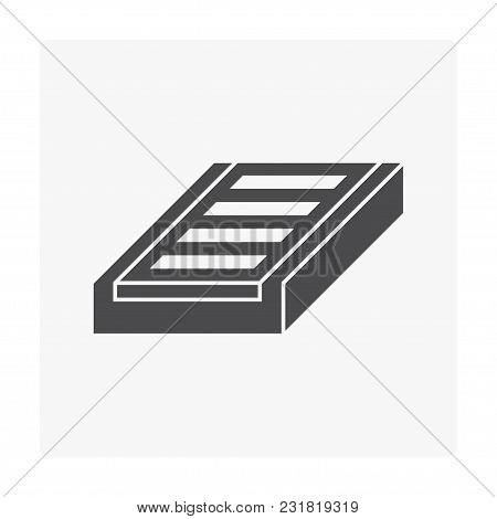 Grating And Street Gutter Icon On White.