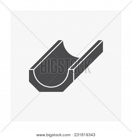 Street Gutter Icon Isolated On White Background.