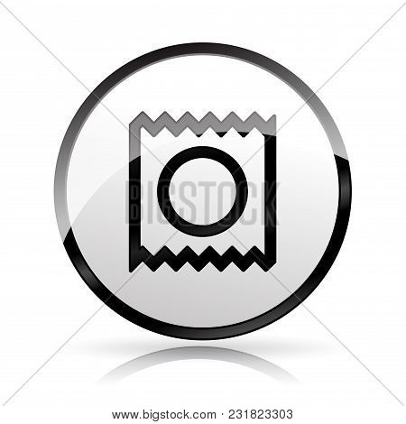 Illustration Of Condom Icon On White Background