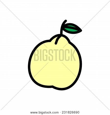 Pear Icon In Cartoon Style. Vector Illustration With Pear Isolated On White Background.