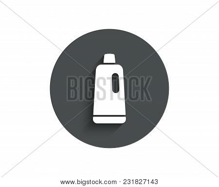 Cleaning Shampoo Simple Icon. Washing Liquid Or Cleanser Symbol. Housekeeping Equipment Sign. Circle