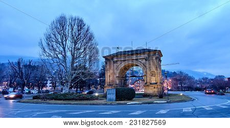 Arch Of August In Aosta - Italy.