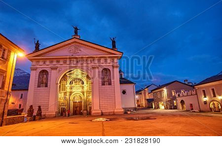 Cathedral Of Aosta (italy) - Night View.