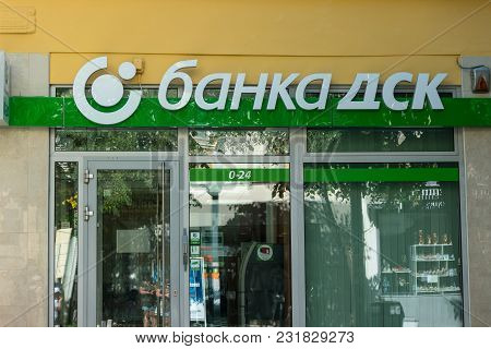Burgas, Bulgaria - August 20, 2017: Office Of Dsk Bank (state Savings Bank). Dsk Bank - Is A Major B