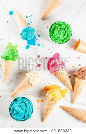 Colorful Melting Ice Cream