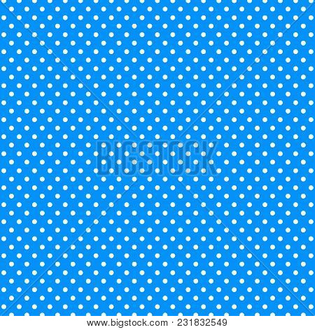 Background Circles. Abstract White Circles On A Blue Background