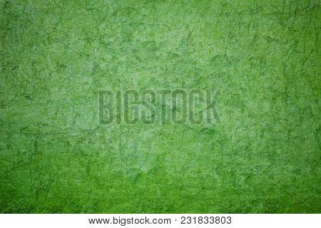 Green Concrete Wall