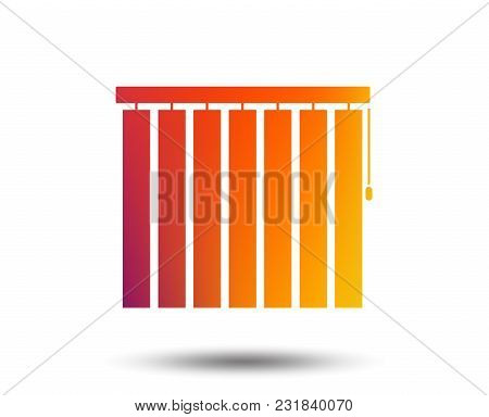 Louvers Vertical Sign Icon. Window Blinds Or Jalousie Symbol. Blurred Gradient Design Element. Vivid