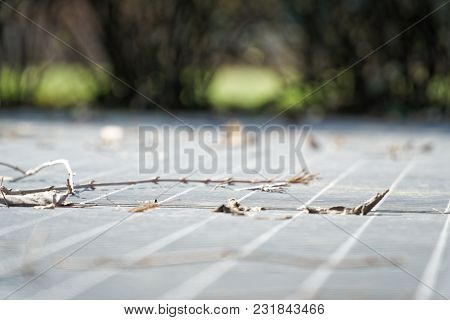 Steel Ground Lattice. Stainless Steel Texture, Background For Web Site Or Mobile Devices.