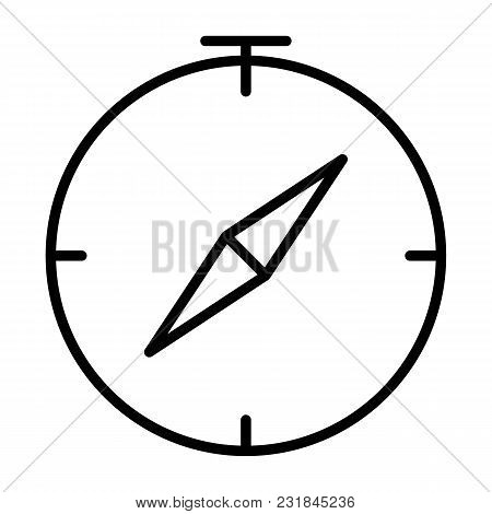 Compass Line Icon.  96x96 For Web Graphics And Apps.  Simple Minimal Pictogram. Vector