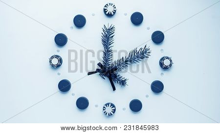New Year's Watch On The Table, Laid Out The Details. Dial From T