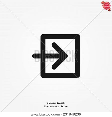 Login Icon. Vector Symbol Isolated On White Background.