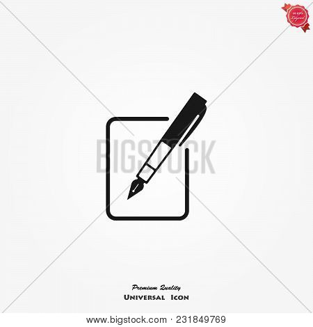 Register Icon. Vector Symbol Isolated On White Background.