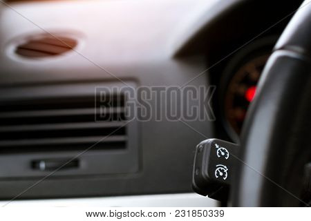 Lever With Cruise Control And Turn Signals Of Car